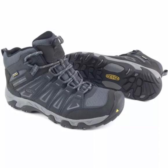 7d00e92fd63 Keen Mens Oakridge Mid Waterproof Hiking Boots NWT